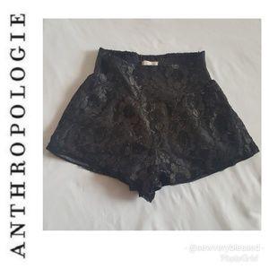 Anthropologie Shorts - 4 for $25 Anthropologie Lace Black Smocked Shorts